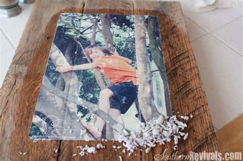 diy mod podge on wood diy pallet photo frames with mod podge photo transfer southern revivals