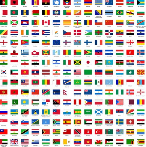 flags of the world pictures with names world flags