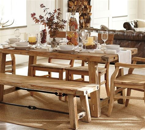 white burlap table runner simple distressed farmhouse kitchen table with white