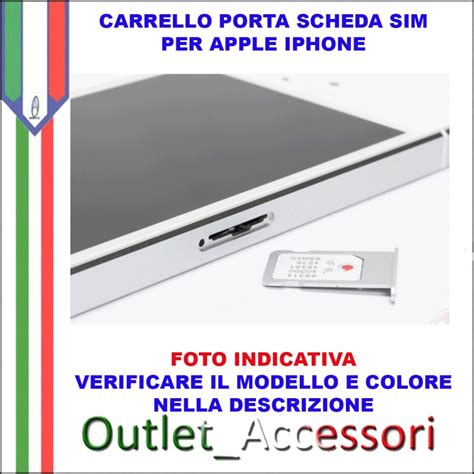 porta sim iphone 4 carrello porta sim scheda apple iphone 7 gold