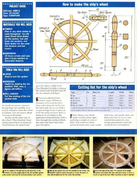 ship wheel plans woodarchivist