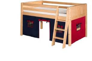Loft Bed Kits For Camaflexi Fabric Tent Kit For Low Loft Bed Blue