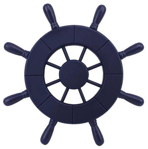 large boat steering wheel dark blue decorative ship wheel 9 wooden ships wheel