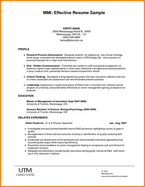 Effective Resume Format by 7 Effective Resume Format Appeal Leter