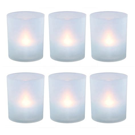 Votive Holders Lumabase Flameless Votive Candles 2 25 In Warm White