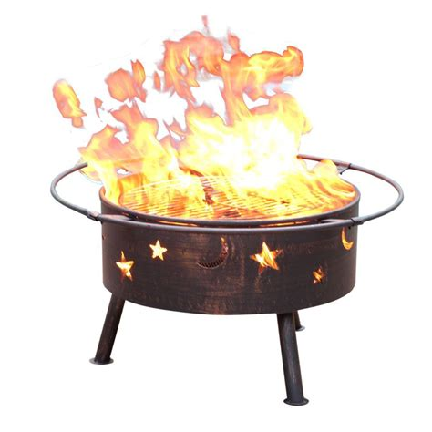 landmann 24 in big sky stars and moons fire pit in black