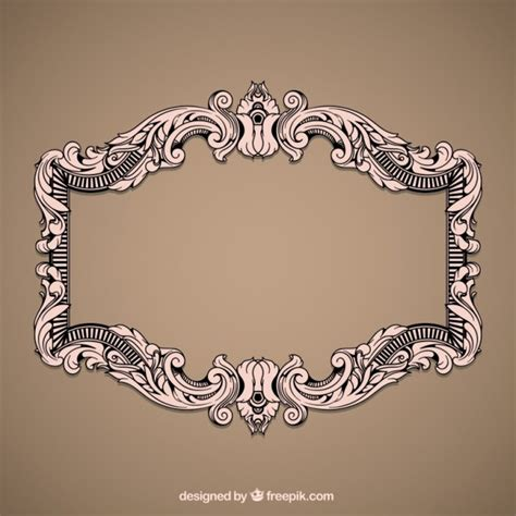 how to create a vector decorative frame in illustrator vintage decorative frame vector free download