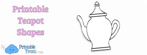 free teapot shaped card template printable teapot template printable treats