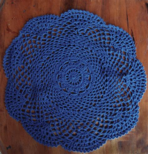 Handmade Doilies - 12 quot shaped handmade cotton crochet doilies