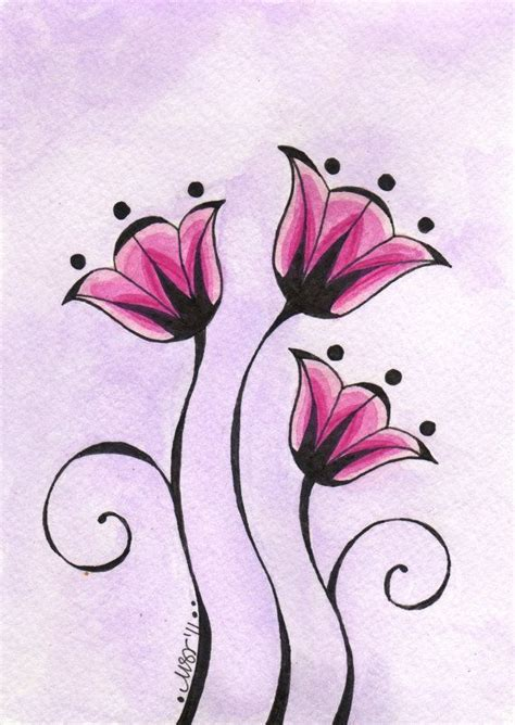 Simple Yet Beautiful Blooms by 1000 Ideas About Simple Drawings On