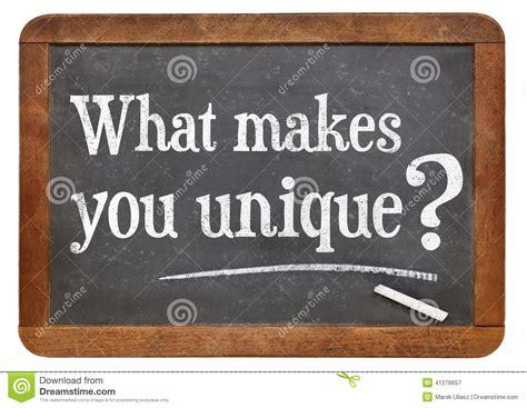 You Is For Unique what makes you unique question stock photo image 41276657