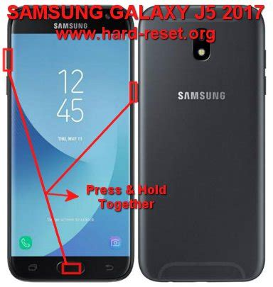 reset samsung j5 how to easily master format samsung galaxy j5 2017