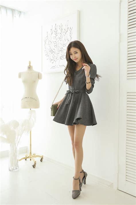 dress model korea a line belt dress korean dresses korean