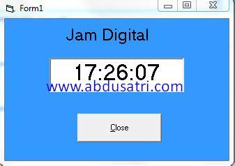 membuat jam digital visual basic membuat jam digital dengan visual basic 6 0 danish f
