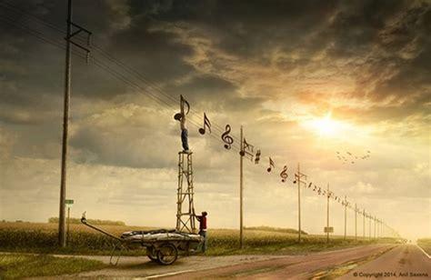 imagenes surrealistas musica anil saxena fotomontajes surrealistas con photoshop ceslava