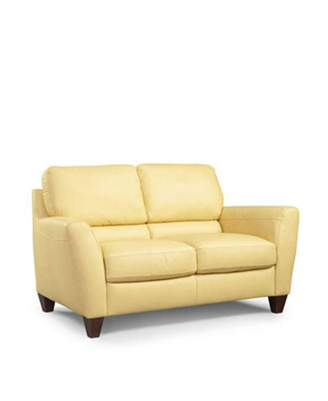 Almafi Leather Loveseat Furniture Macy S Almafi Leather Sofa
