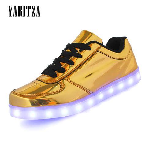gold led light shoes yaritza 2016 new 7 colors men women low top usb led