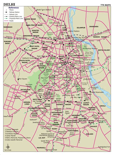 road map of delhi road map free printable maps