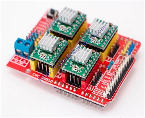 Arduino Cnc Shield V3 4 Driver A4988 kit cnc shield v3 4 drive a4988 arduino uno r3 ch340g r