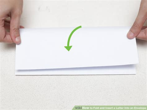 How To Fold Paper Into A Letter - the 3 best ways to fold and insert a letter into an envelope