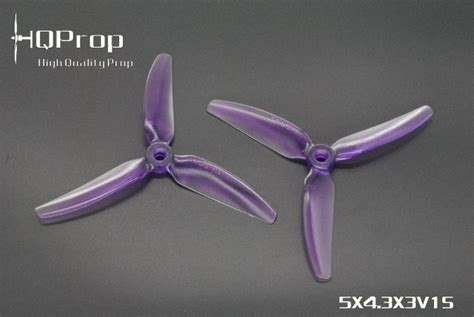 Hq Propeller 3x4x3 V1s Light hqprop v1s light purple 5x4x3 pc propeller set of 4