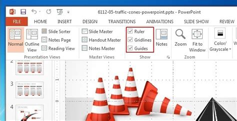 powerpoint layout guides using gridlines guides and ruler in powerpoint 2013