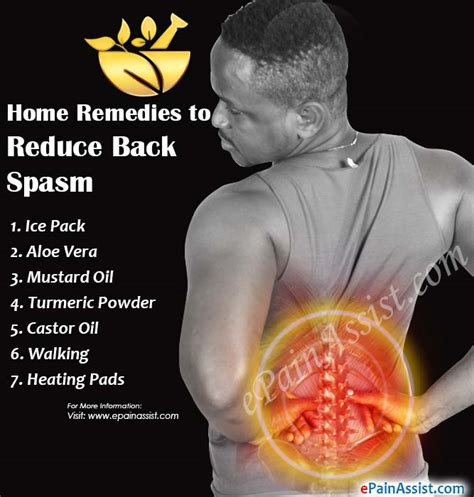 home remedies for back spasm