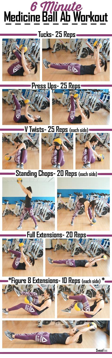 minute medicine ball ab workout sweatfixx