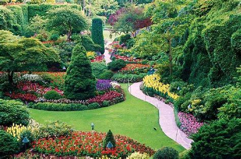 Vancouver Island Botanical Gardens Butchart Gardens Sunken Garden Vancouver Island Columbia Pixdaus