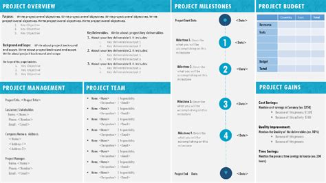 one page project charter template project charter template ppt project management templates