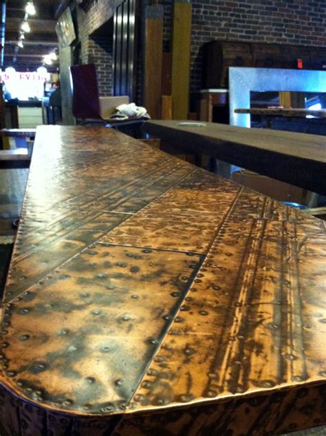 cool bar tops custom tin top bar