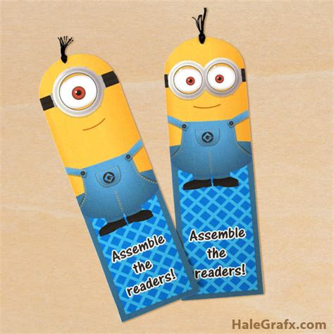 printable bookmarks minions free printable despicable me minion bookmarks