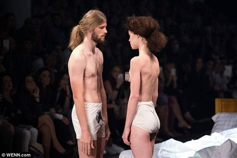 public hair showing down there on men ronaldo fraga has male and female models strip at s 227 o