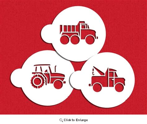 trucks cookie stencil set by designer stencils