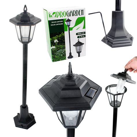 Solar Powered Post Lights For Outdoors Solar Powered Garden Lights Lantern L Black Led Pathway Walkway Outdoor Post