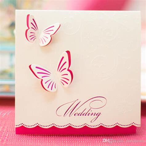 invitation design mail 50 pcs wedding invitations butterfly style fancy design