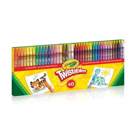 crayola twistable colored pencils 40 ct twistables crayons coloured pencils crayola store