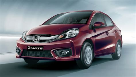 honda brio in india honda brio amaze sedan facelift makes debut in india image