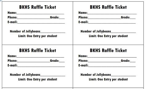 template for raffle tickets 40 free editable raffle ticket templates