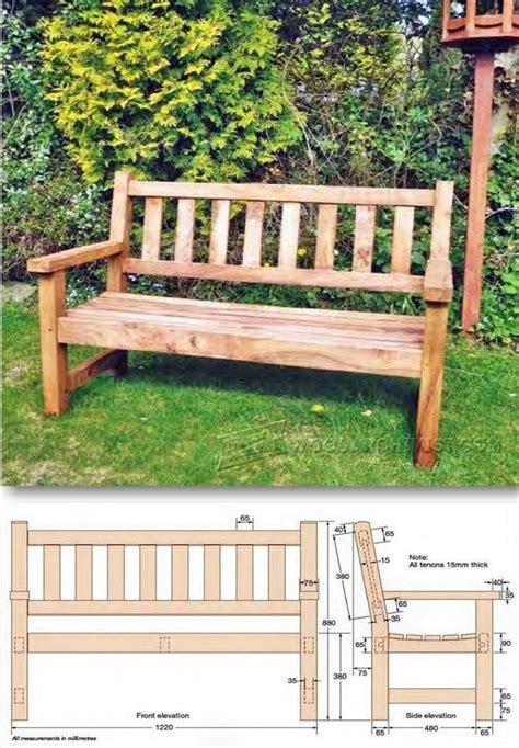 backyard bench plans build garden bench outdoor furniture plans and projects