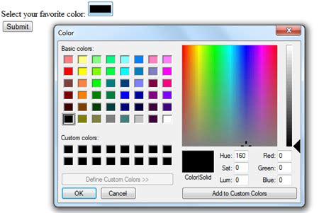 html5 input type color dynamicweblab