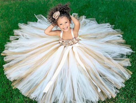 Wedding Dress Anak Tutu Blossom Merah ivory gold chagne flower dress by princesslondonstutus 80 00 our wedding