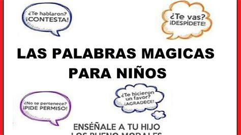 imagenes palabras magicas cancion palabras magicas youtube
