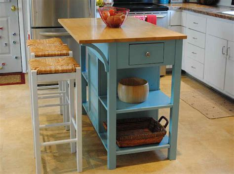 Movable Island For Kitchen Small Movable Kitchen Island With Stools Iecob Info