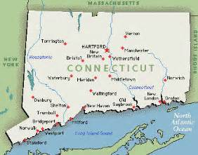 us map ct state of connecticut