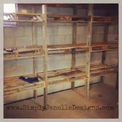 shelves made from pallets 25 best ideas about pallet shelves on pallet