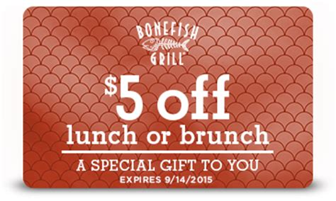 Bonefish Grill Gift Card Discount - bonefish grill printable coupons promo codes