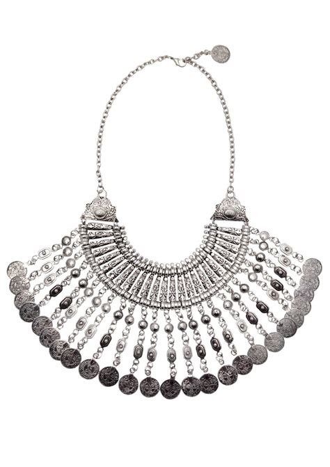 mystery ancient coins bib necklace happiness boutique