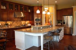 Open Kitchen With Island Open Kitchen With Huge Island Traditional Kitchen