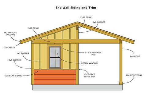 16x16 Shed Plans Free by 16 215 16 Shed Plans Blueprints For Large Cabana Style Shed